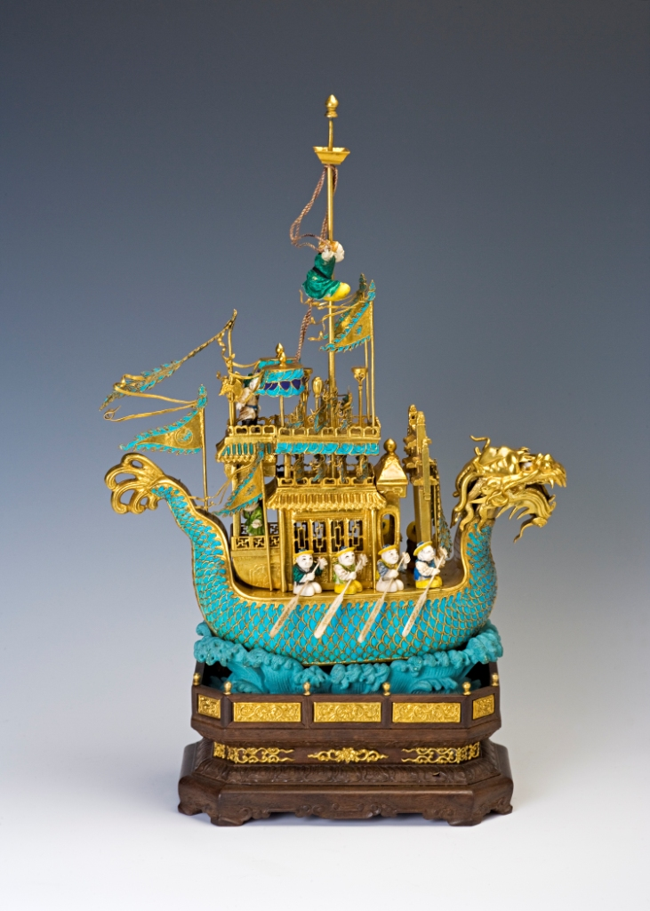 A Chinese dragon boat, 19th Century.