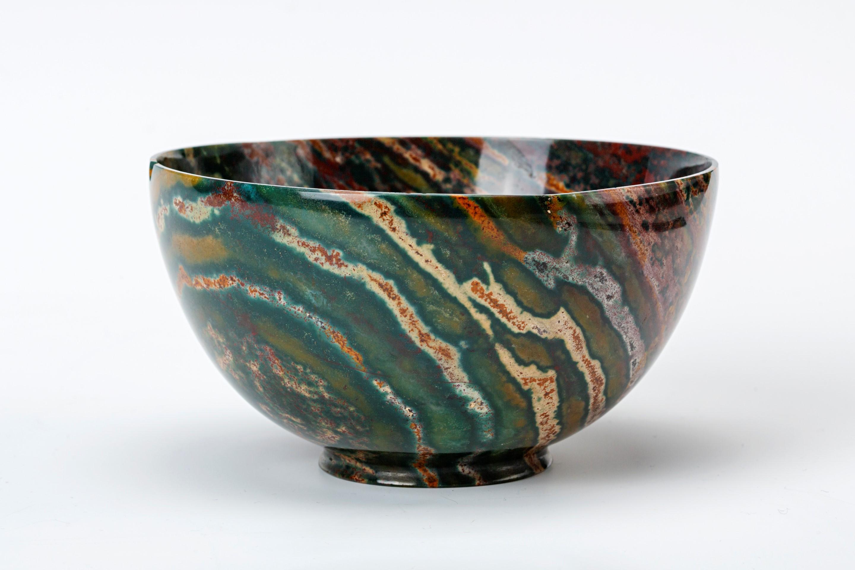 An Indian  jasper bowl, 17th Century.